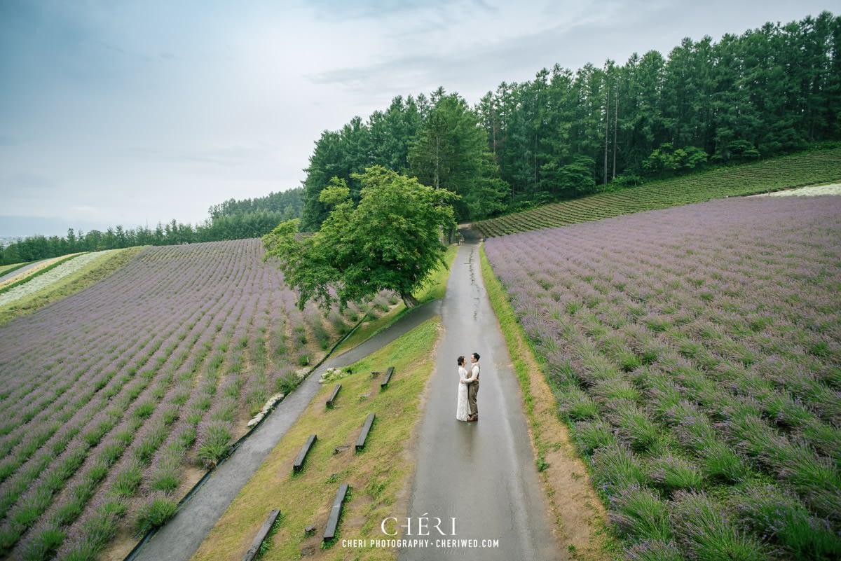 cheriwed pre wedding in hokkaido japan tomita farm lavender field 32 - Pre-Wedding Photo in Hokkaido, Japan with Lavender Field at Tomita Farm - Lowina & Simon from Hong Kong