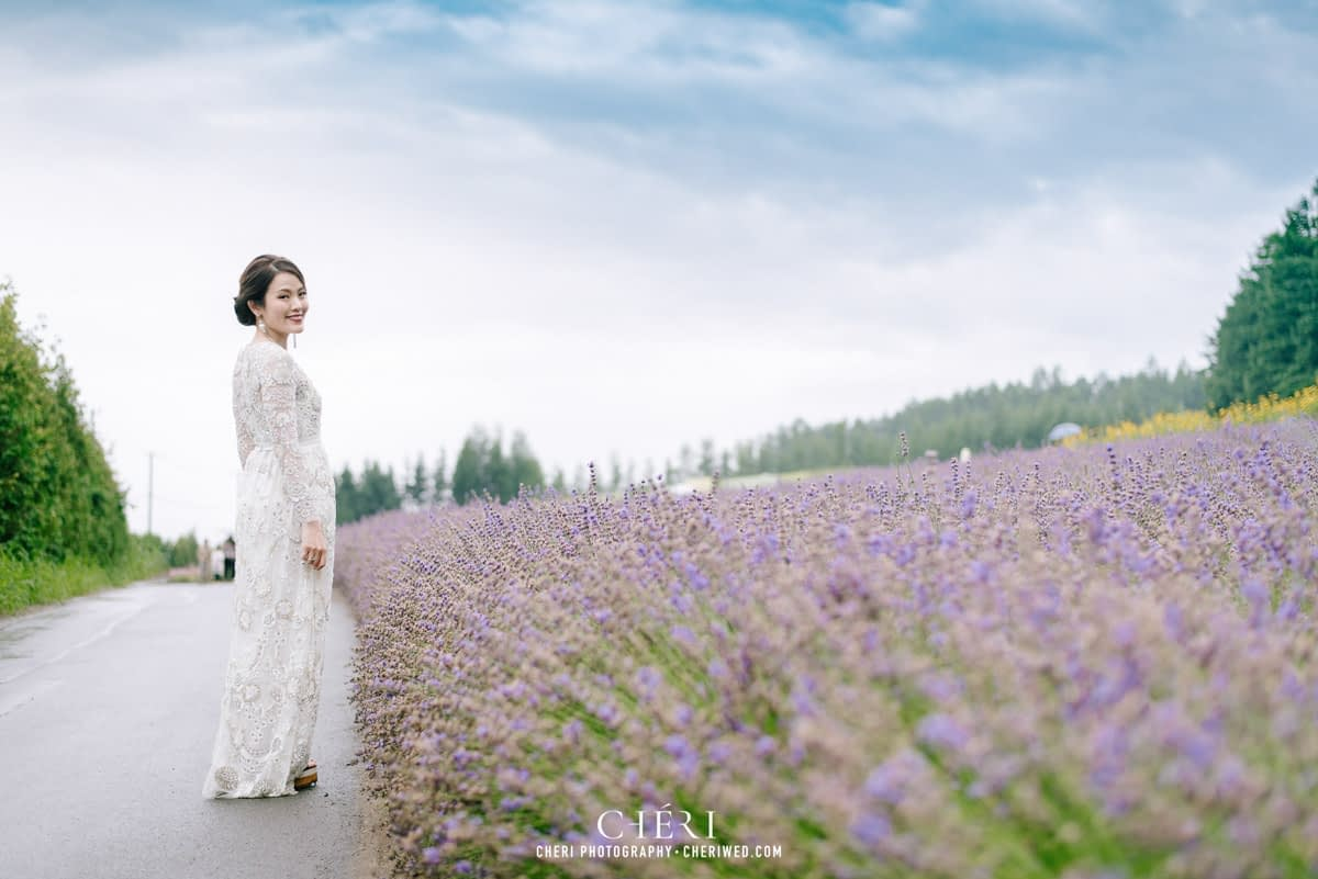 cheriwed pre wedding in hokkaido japan tomita farm lavender field 45 - Pre-Wedding Photo in Hokkaido, Japan with Lavender Field at Tomita Farm - Lowina & Simon from Hong Kong