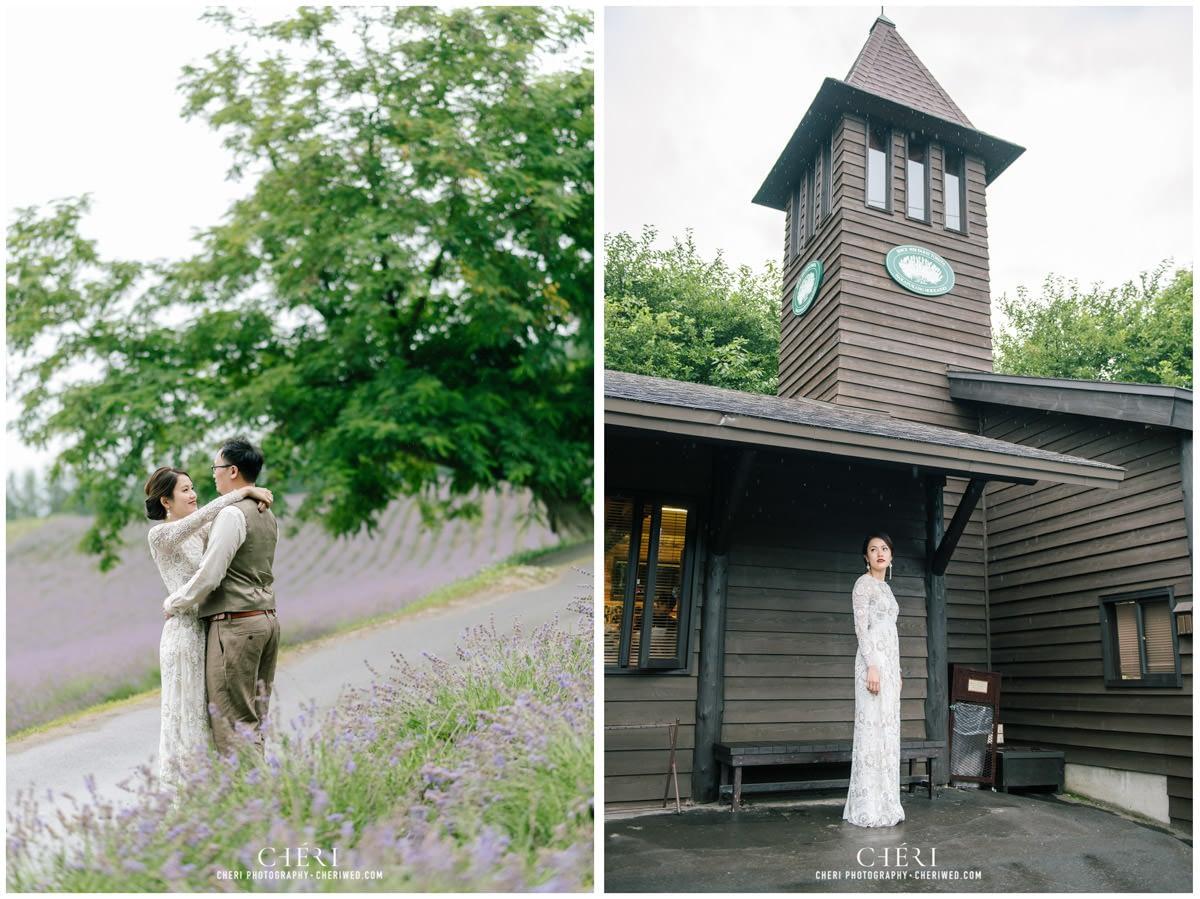 cheriwed pre wedding in hokkaido japan tomita farm lavender field 38 - Pre-Wedding Photo in Hokkaido, Japan with Lavender Field at Tomita Farm - Lowina & Simon from Hong Kong