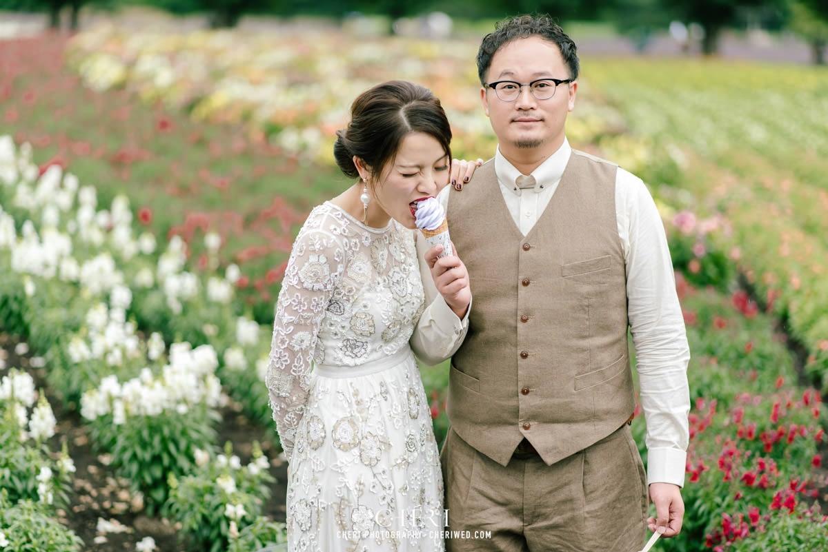 cheriwed pre wedding in hokkaido japan tomita farm lavender field 06 - Pre-Wedding Photo in Hokkaido, Japan with Lavender Field at Tomita Farm - Lowina & Simon from Hong Kong