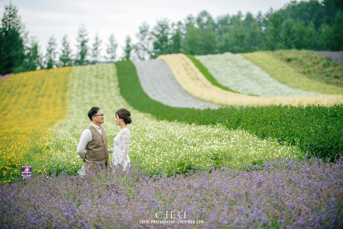 cheriwed pre wedding in hokkaido japan tomita farm lavender field 14 - Pre-Wedding Photo in Hokkaido, Japan with Lavender Field at Tomita Farm - Lowina & Simon from Hong Kong