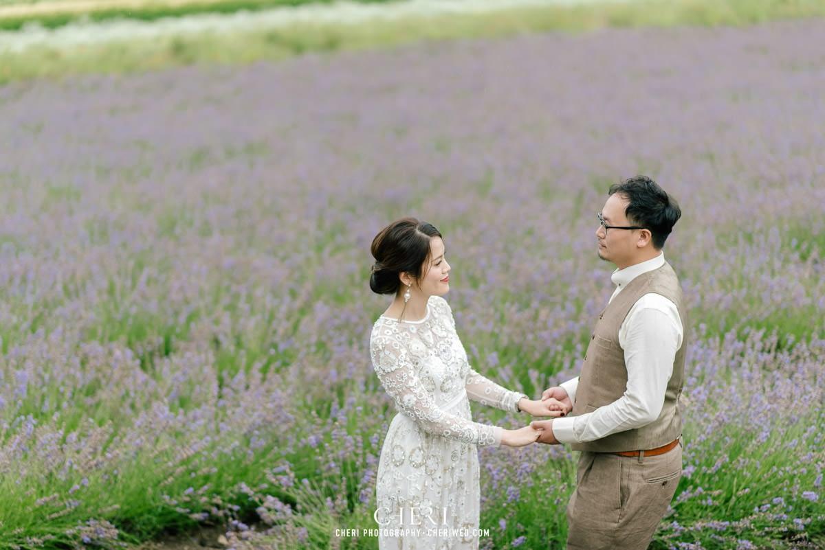 cheriwed pre wedding in hokkaido japan tomita farm lavender field 29 - Pre-Wedding Photo in Hokkaido, Japan with Lavender Field at Tomita Farm - Lowina & Simon from Hong Kong
