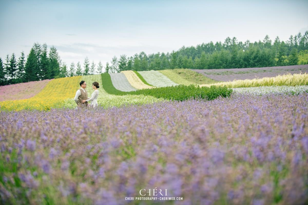 cheriwed pre wedding in hokkaido japan tomita farm lavender field 15 - Pre-Wedding Photo in Hokkaido, Japan with Lavender Field at Tomita Farm - Lowina & Simon from Hong Kong