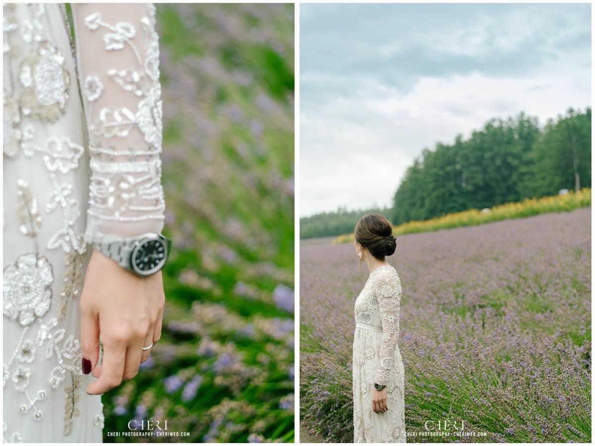 cheriwed pre wedding in hokkaido japan tomita farm lavender field 42 - Pre-Wedding Photo in Hokkaido, Japan with Lavender Field at Tomita Farm - Lowina & Simon from Hong Kong
