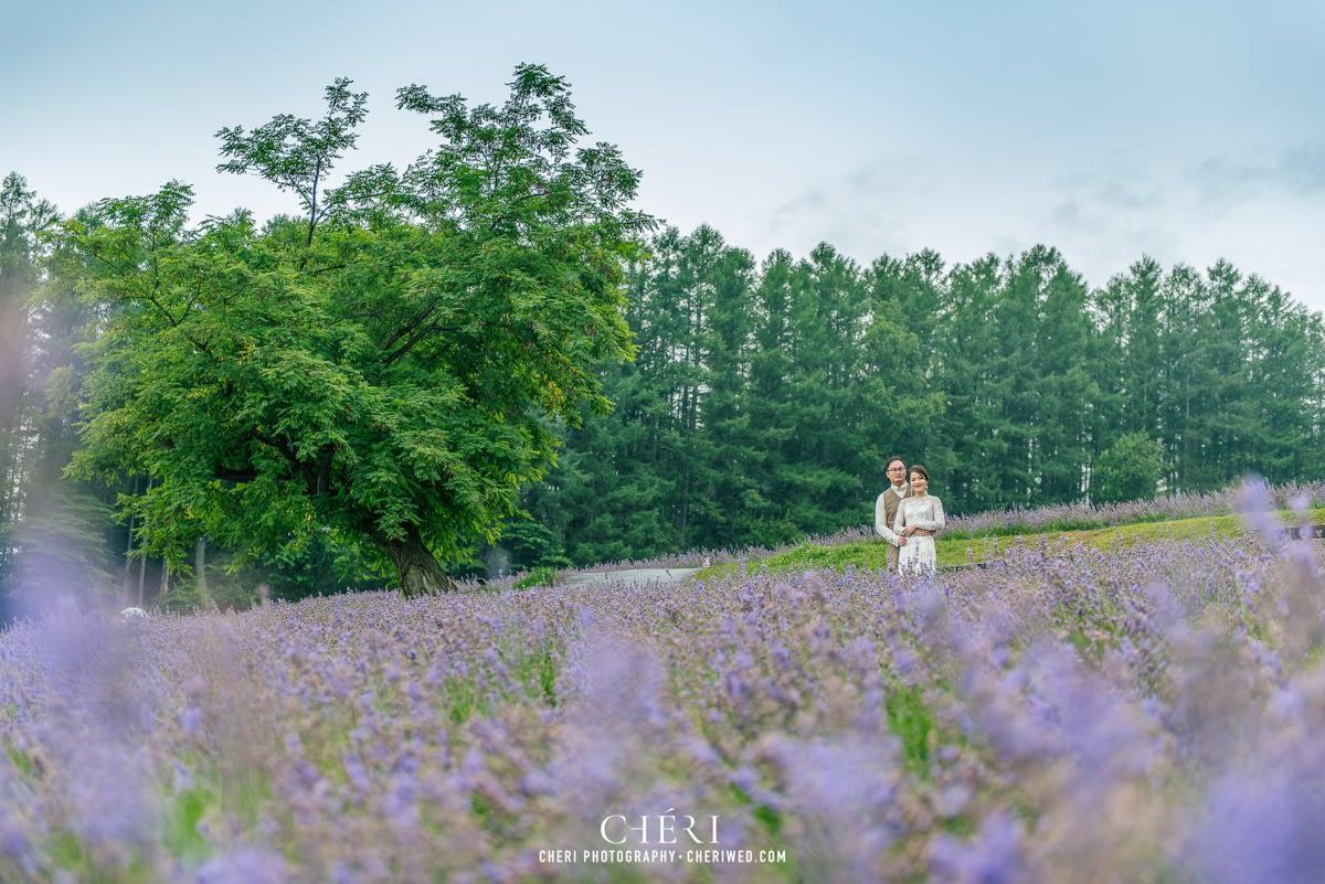 cheriwed pre wedding in hokkaido japan tomita farm lavender field 21 - Pre-Wedding Photo in Hokkaido, Japan with Lavender Field at Tomita Farm - Lowina & Simon from Hong Kong
