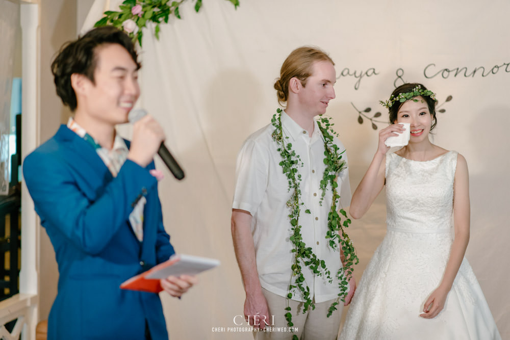 ร้านอาหารไทยบุษราคัม งานแต่งงาน ทานอาหารกลางวัน บรรยากาศสนุกสนาน , Pitchaya and Connor