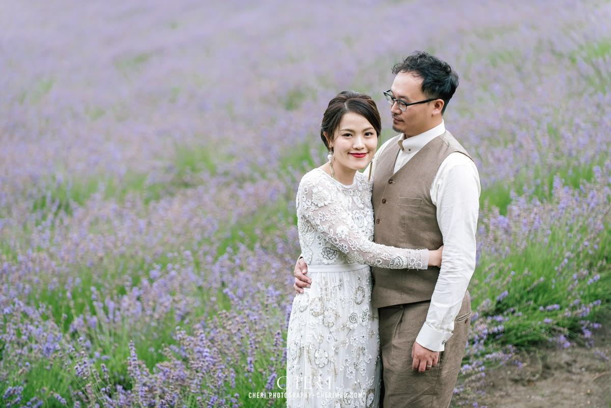 cheriwed pre wedding in hokkaido japan tomita farm lavender field 28 - Pre-Wedding Photo in Hokkaido, Japan with Lavender Field at Tomita Farm - Lowina & Simon from Hong Kong
