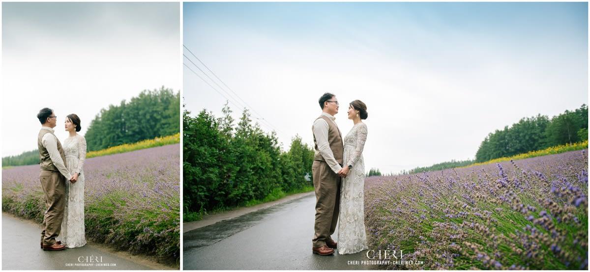 cheriwed pre wedding in hokkaido japan tomita farm lavender field 12 - Pre-Wedding Photo in Hokkaido, Japan with Lavender Field at Tomita Farm - Lowina & Simon from Hong Kong