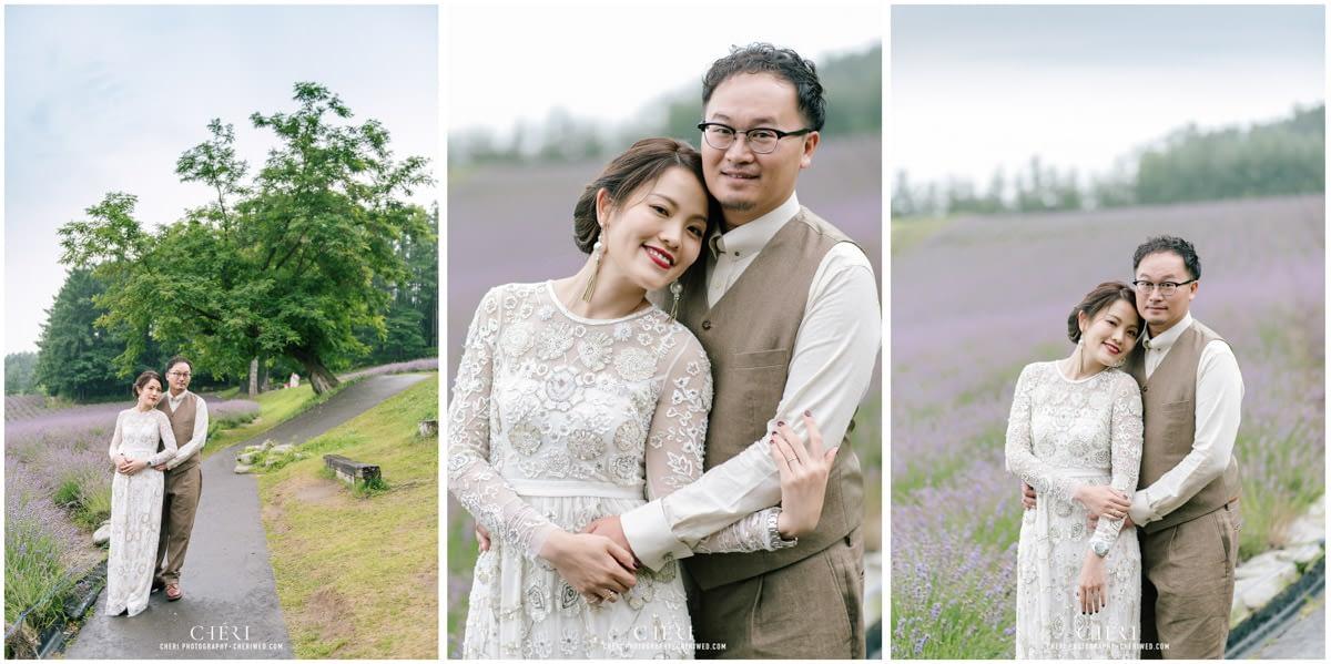 cheriwed pre wedding in hokkaido japan tomita farm lavender field 25 - Pre-Wedding Photo in Hokkaido, Japan with Lavender Field at Tomita Farm - Lowina & Simon from Hong Kong