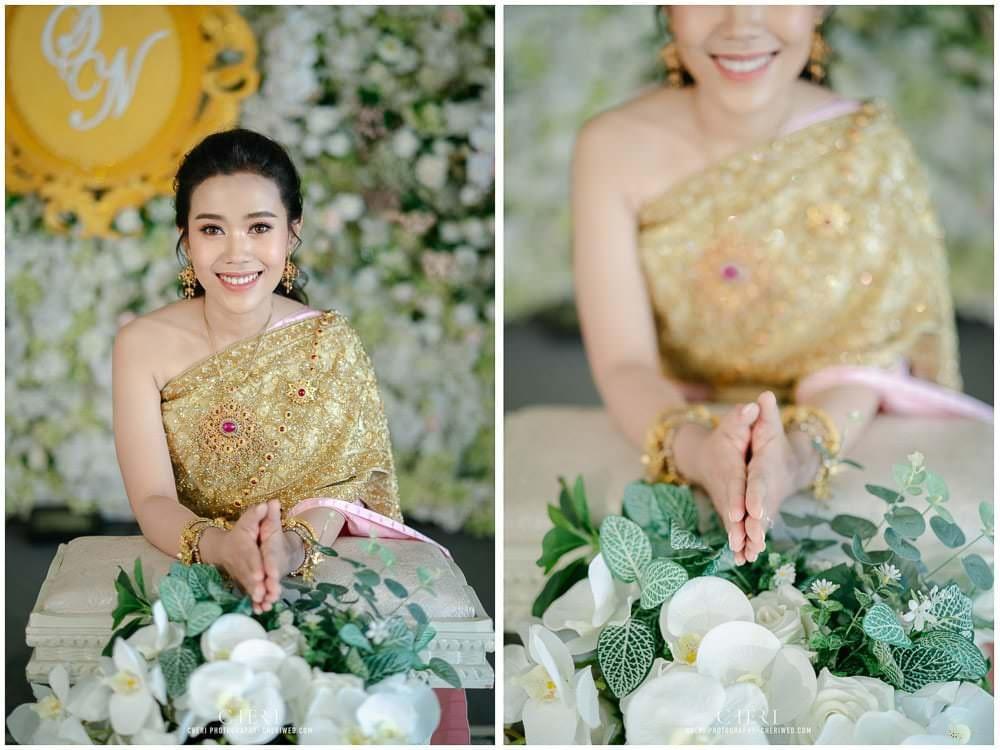 RuenPraKaiPetch thai wedding ceremony cheri weding 196 - รีวิว ภาพถ่ายผลงาน งานแต่งพิธีหมั้นแบบไทย สถานที่จัดงานแต่งงาน ริมทะเลสาบ เรือนประกายเพชร เรือนไทยสไตล์โคโลเนียล คุณสุนิธี และคุณนัฐวุฒิ